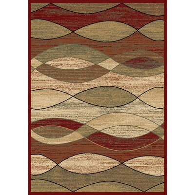 City Surf Claret Area Rug Rug Size: 8 x 10