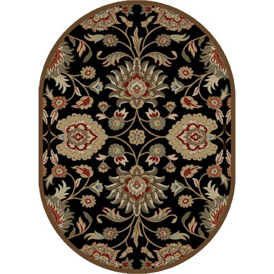 Timeless Black Area Rug Rug Size: Oval 5 x 8