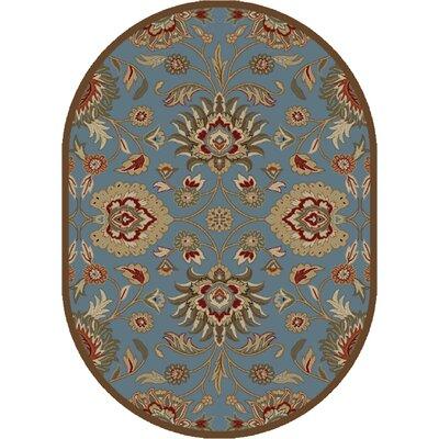 Timeless Blue Viola Area Rug Rug Size: Oval 5 x 8