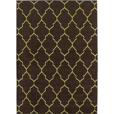Lifestyles Deco Plaza Chocolate Indoor/Outdoor Area Rug Rug Size: 8 x 10
