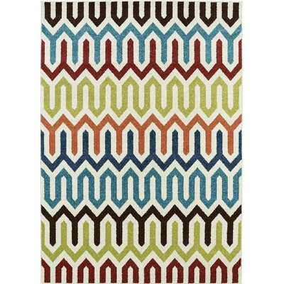 Lifestyles Larado Ivory Indoor/Outdoor Area Rug Rug Size: 8 x 10