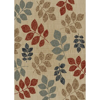 Timeless Leaves of Color Area Rug Rug Size: 8 x 10