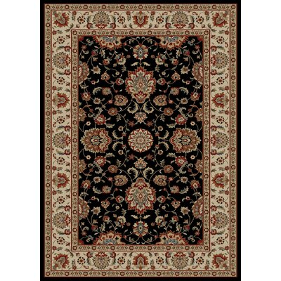 Timeless Olivia Black Area Rug Rug Size: Rectangle 5 x 8