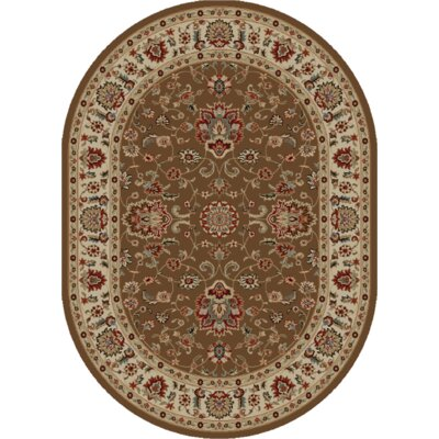 Timeless Olivia Chocolate Area Rug Rug Size: Oval 5 x 8