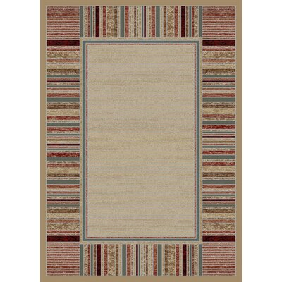 Hometown Strata Antique Ivory Area Rug Rug Size: 53 x 77