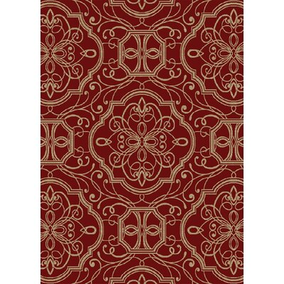 Hometown Empire Claret Area Rug Rug Size: 5 x 8