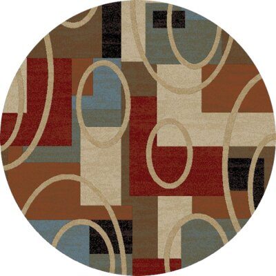 Hometown Broadway Biege Area Rug Rug Size: Round 53