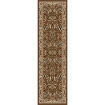 Hometown Classic Keshan Chocolate Area Rug Rug Size: Runner 2 x 8