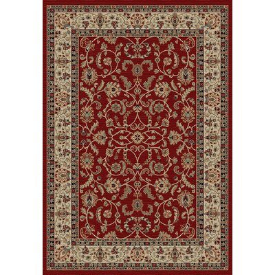 Hometown Classic Keshan Claret Area Rug Rug Size: Rectangle 5 x 8