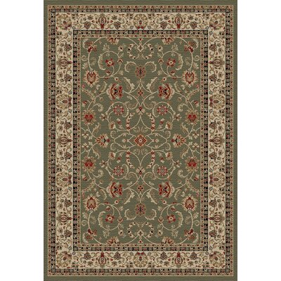 Hometown Classic Keshan Sage Area Rug Rug Size: Rectangle 8 x 10