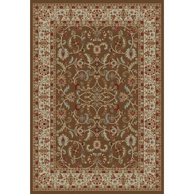 Hometown Classic Keshan Chocolate Area Rug Rug Size: Rectangle 2' x 4'