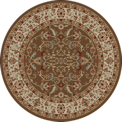Hometown Classic Keshan Chocolate Area Rug Rug Size: Round 8