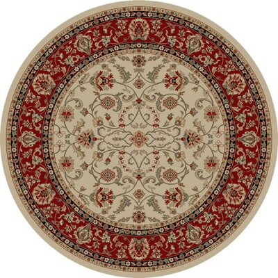 Hometown Classic Keshan Antique Area Rug Rug Size: Round 8