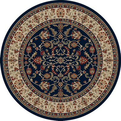 Hometown Classic Keshan Area Rug Rug Size: Round 8