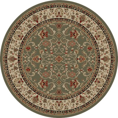 Hometown Classic Keshan Sage Area Rug Rug Size: Round 8