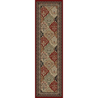 Hometown Panel Kerman Claret Area Rug Rug Size: Runner 2 x 8