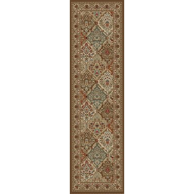 Hometown Panel Kerman Chocolate Area Rug Rug Size: Runner 2 x 8
