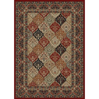 Hometown Panel Kerman Claret Area Rug Rug Size: 5 x 8