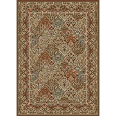 Hometown Panel Kerman Chocolate Area Rug Rug Size: 5 x 8