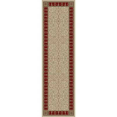 Hometown Paloma Antique/Claret Area Rug Rug Size: Runner 2 x 8