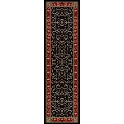 Hometown Paloma Ebony/Claret Area Rug Rug Size: Runner 2 x 8