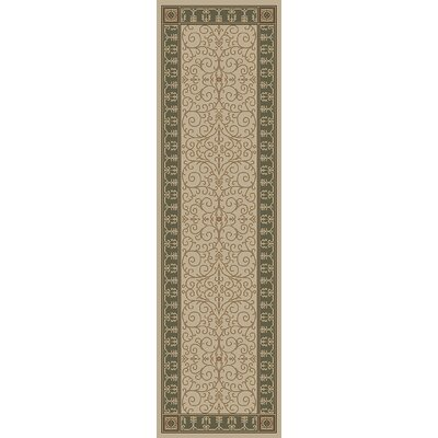 Hometown Paloma Antique/Sage Area Rug Rug Size: Runner 2 x 8