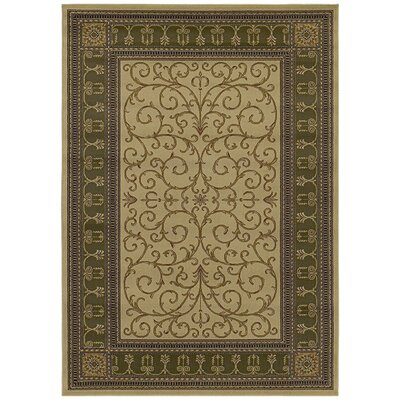 Hometown Paloma Antique/Sage Area Rug Rug Size: 5 x 8