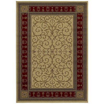 Hometown Paloma Antique/Claret Area Rug Rug Size: 5 x 8