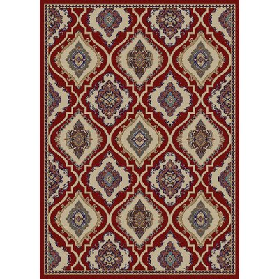 Hometown Classic Panel Claret Area Rug Rug Size: 8 x 10