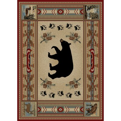 Hearthside Woodlands Bear Area Rug Rug Size: 53 x 73