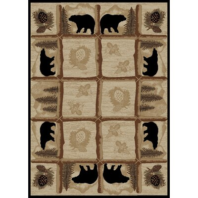 Hearthside Ebony Area Rug Rug Size: Rectangle 22 x 33