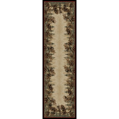American Destinations Beige/Green Area Rug Rug Size: Runner 2 x 8