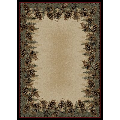 American Destinations Beige/Green Area Rug Rug Size: Rectangle 4 x 6