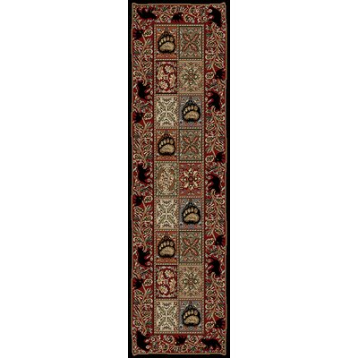 American Destinations Red/Black Area Rug Rug Size: Runner 2 x 8