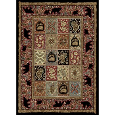 American Destinations Red/Black Area Rug Rug Size: Rectangle 4 x 6