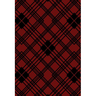 American Destinations Red/Black Area Rug Rug Size: Rectangle 5 x 8