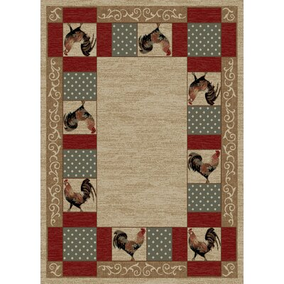 American Destinations Beige Area Rug Rug Size: Rectangle 5 x 8