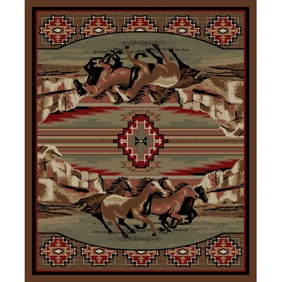 American Destinations Brown Area Rug Rug Size: Rectangle 8 x 10