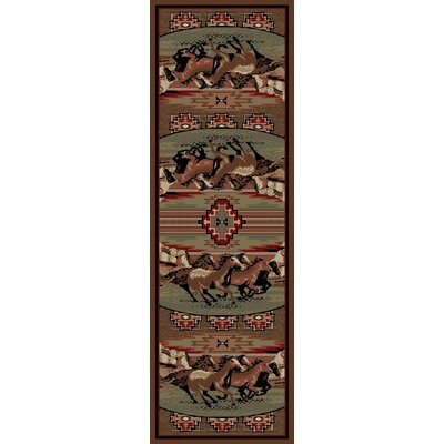 American Destinations Brown Area Rug Rug Size: Runner 2 x 8