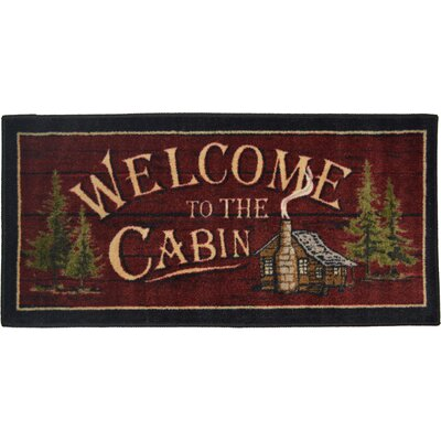 Cozy Cabin Welcome to the Cabin Kitchen Mat