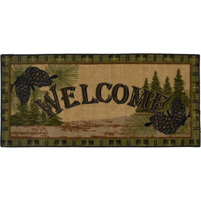 Cozy Cabin Forest Welcome Kitchen Mat