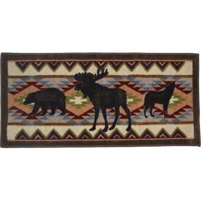 Cozy Cabin Woodland Party Kitchen Mat
