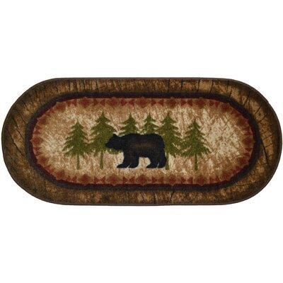 Cozy Cabin Birch Bear Kitchen Mat Mat Size: 18 x 38