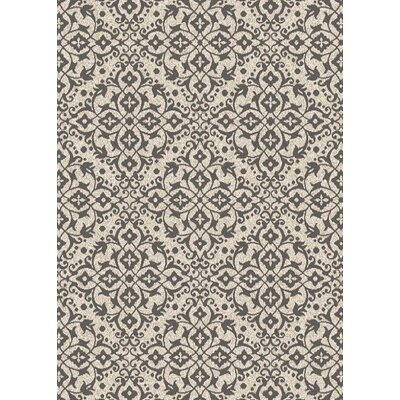 Augusta Dominion Ivory Gray Area Rug Rug Size: 53 x 73