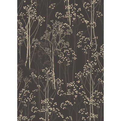 Augusta Aspen Brown Area Rug Rug Size: 53 x 73