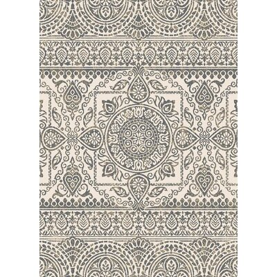 Augusta Jaqueline Gray Area Rug Rug Size: 53 x 73