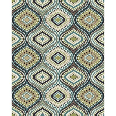 Brookwood Cream Turquoise Area Rug