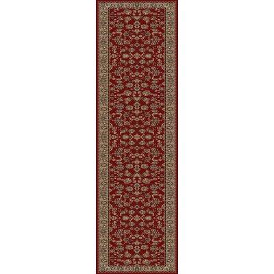 Heritage Elegant Keshan Claret Area Rug Rug Size: Runner 27 x 14