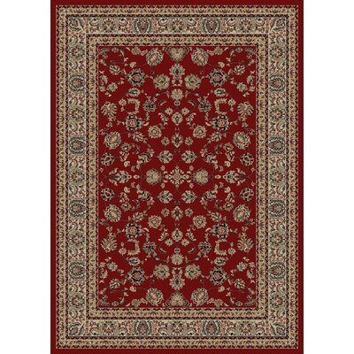 Heritage Elegant Keshan Claret Area Rug Rug Size: Rectangle 106 x 14
