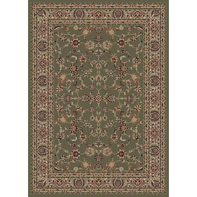 Heritage Elegant Keshan Sage Area Rug Rug Size: Rectangle 53 x 77